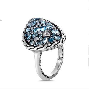 John Hardy Sterling Silver London Blue Topaz Ring